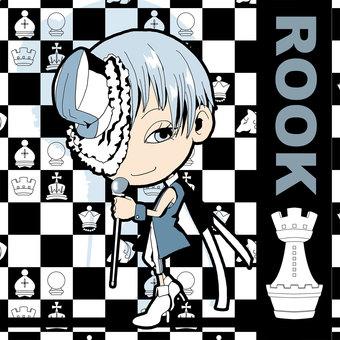 Chess ROOK illustration [white]
