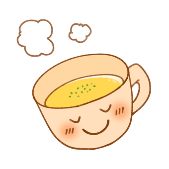 Smile mug and corn potage