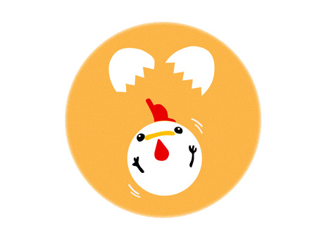 【Rooster year】 Eggs and cute chicken 【New Year's cards】