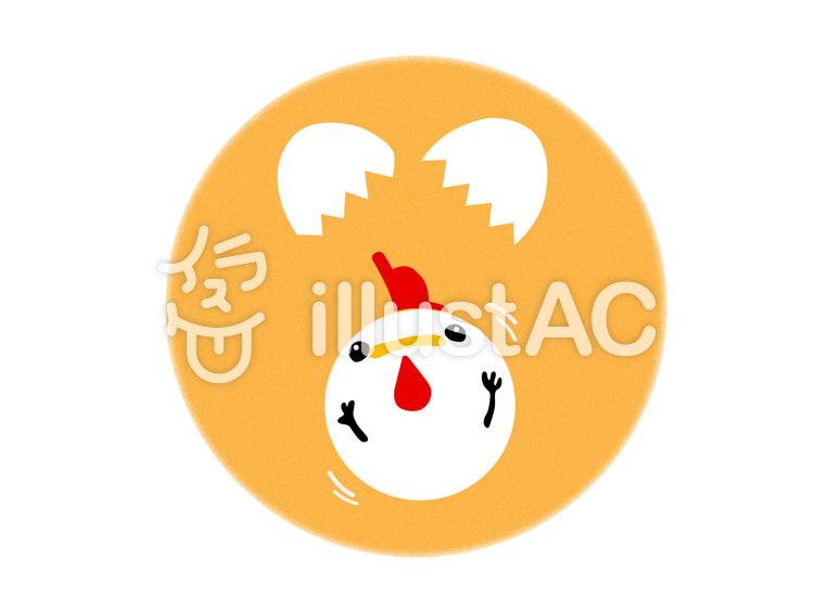 酉年卵と可愛いにわとり年賀状イラスト No 630723無料
