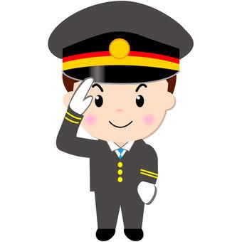 Station staff (salute)