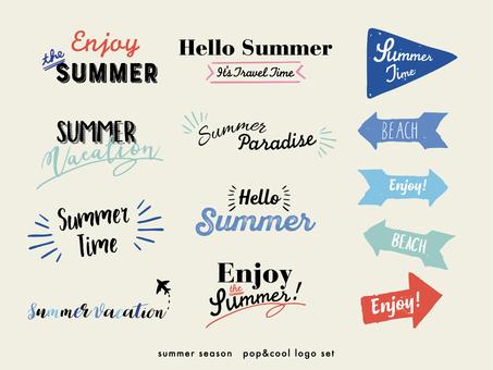 Summer logo material