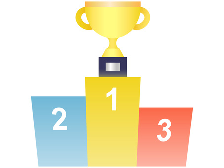 Podium and Trophy