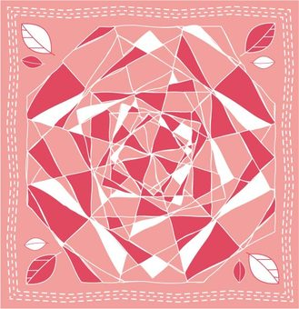 Rose-like geometric pattern