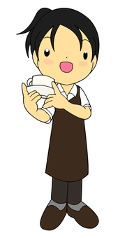 Coffee shop women's clerk
