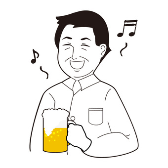 Male drinking beer