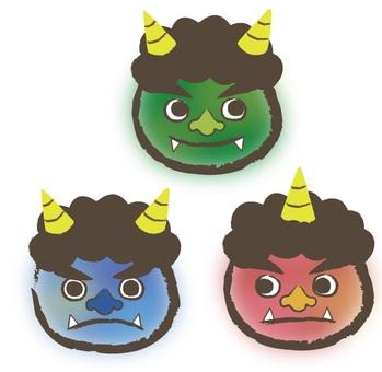 Setsubun Rainbow threesome