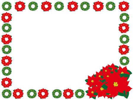 Christmas frame (poinsettia)