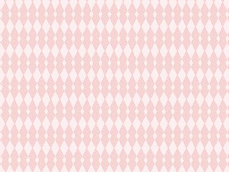 도트 무늬 다이아몬드 (핑크)