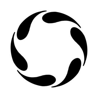 Monochrome vertical circular frame 5