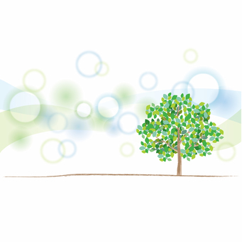 Green tree and fresh background