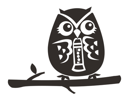 Clarinet blown owl