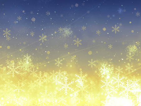 Snow crystal background (gold)