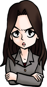 Nami of sales department get angry