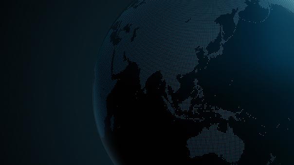 Earth dot map Asia 3 dark