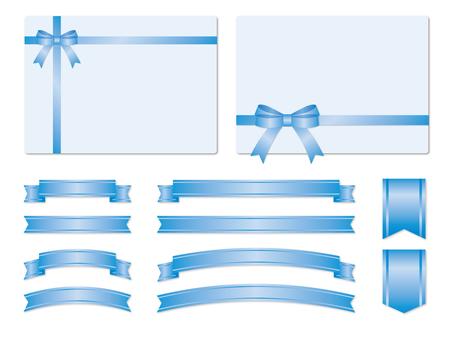 Set of light blue ribbon