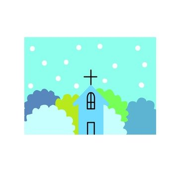 Winter church icon