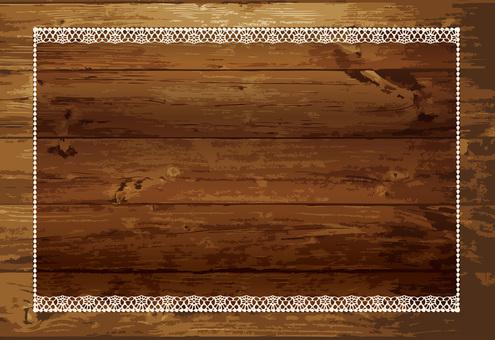 Woodgrain signboard lace frame frame photo frame