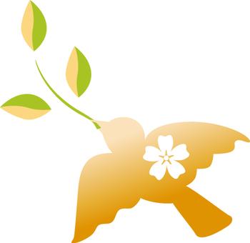 Free illustration leaf decoration pigeon peace