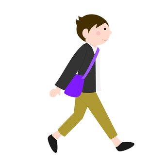 걷는 남자, 오른쪽