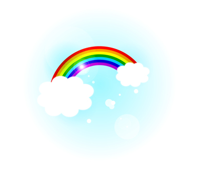 Sky and rainbow illustration