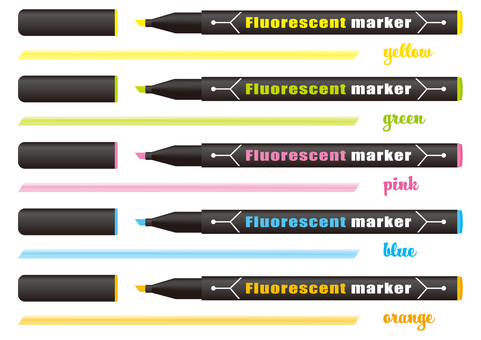 Fluorescent marker 5 color set