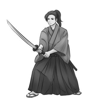 Samurai 3 (monochrome)