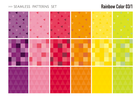 Seamless pattern set / warm color 03