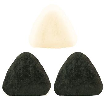 Rice balls set (moist nori)