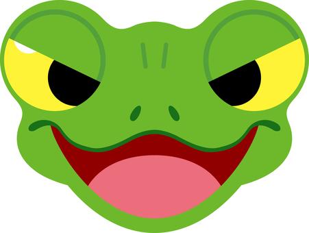 Frog facial expression Cola