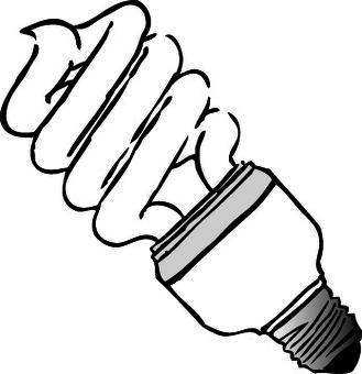 Spiral fluorescent lamp