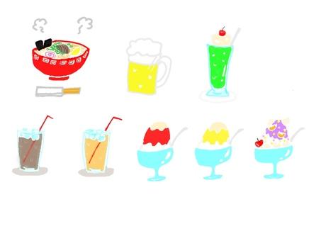 Summer delicious items