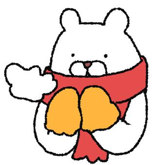 Muffler white bear