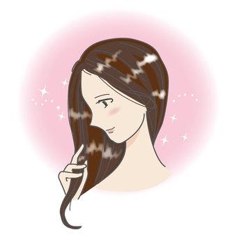 一個美麗的女人,頭髮