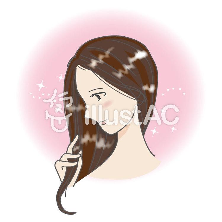 髪の綺麗な女の人イラスト No 560246無料イラストならイラストac