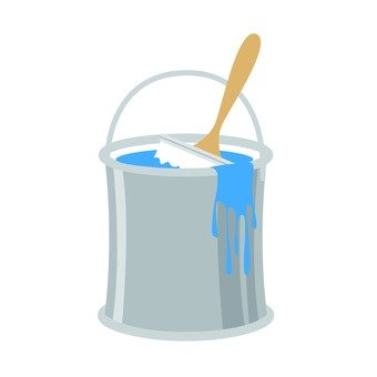 Paint can Blue