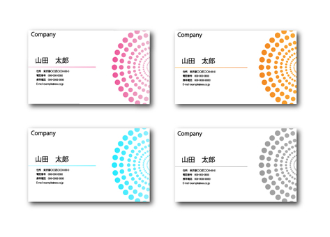 Dots and circle's business card 2