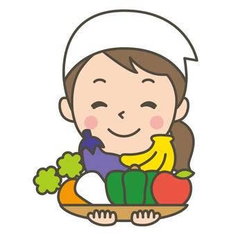 午餐老師蔬菜
