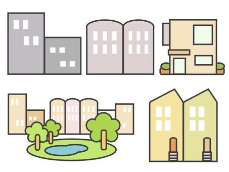 A set of simple townscapes