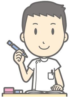 Male nurse - study - bust
