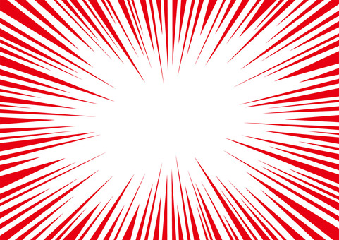Concentrated line · Effect line (cartoon) Data material ☆ Horizontal red