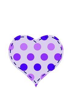 Dot Pattern Heart (purple)