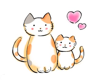 Good friend parent and child cat 1