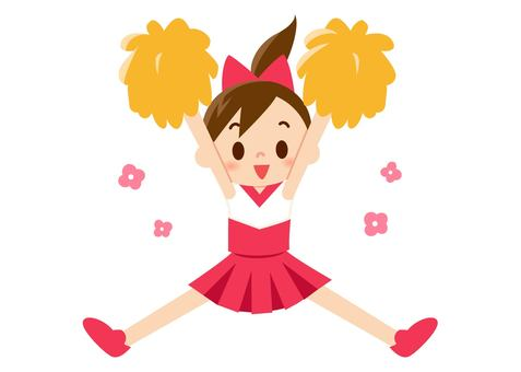 Cheer Girl - Jump (No Line)