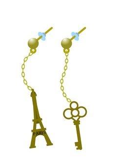 艾菲爾鐵塔和關鍵耳環