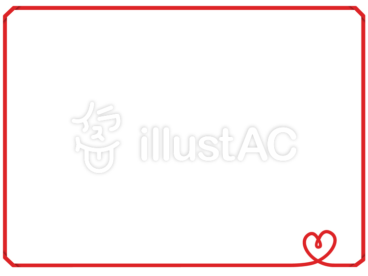 シンプルなハートの飾り枠2イラスト No 113695無料イラストなら