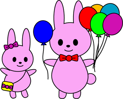 Balloons and rabbits