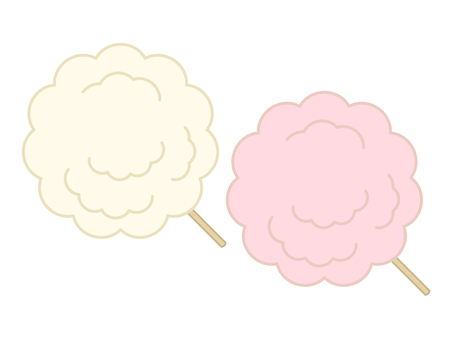 Illustration of cotton candy