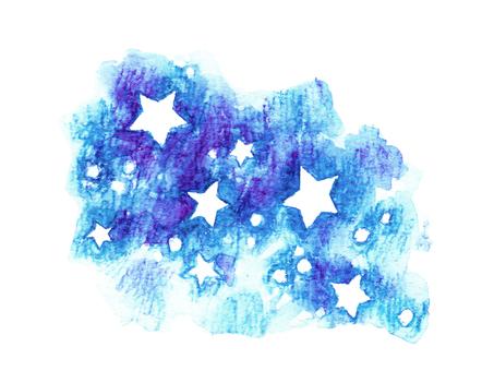 Hand-drawn star Blue