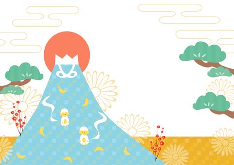 Mount Fuji and monkey 3